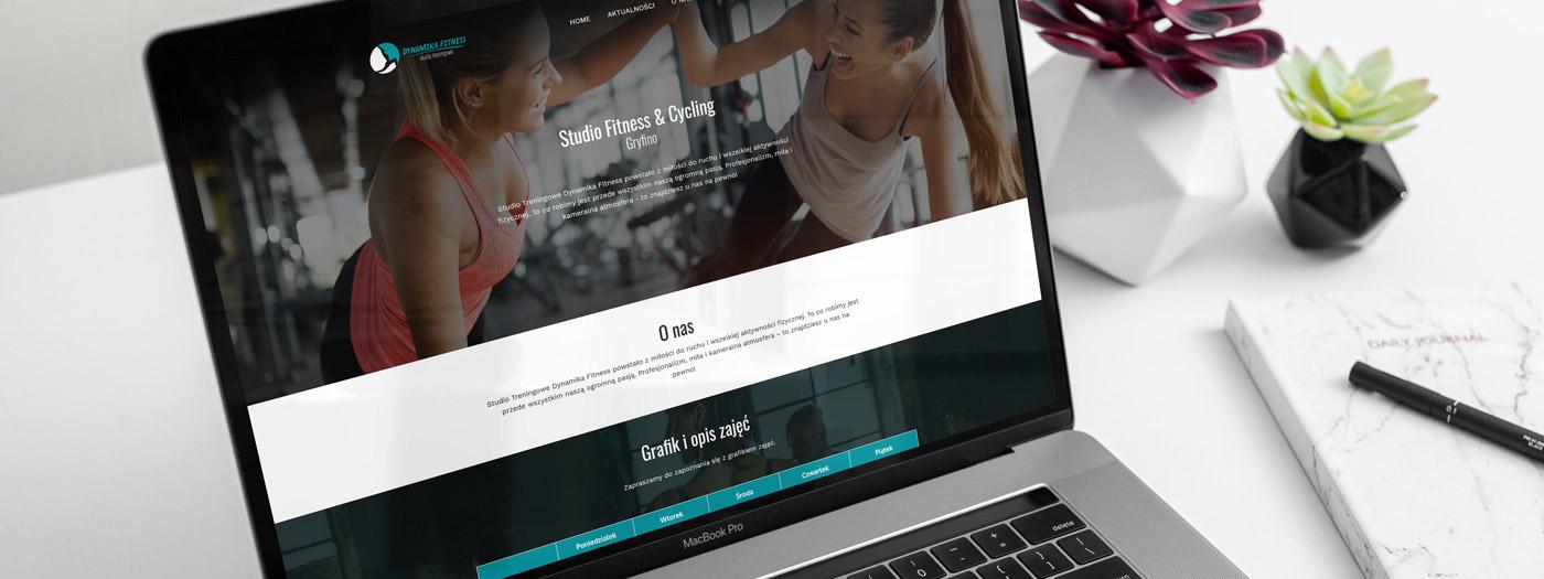 Strona internetowa dla Studio Treningowe Dynamika Fitness