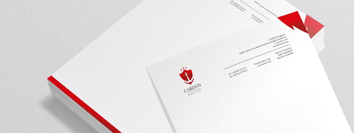 Papier firmowy dla CARDAN Logistics Sp. z o.o.