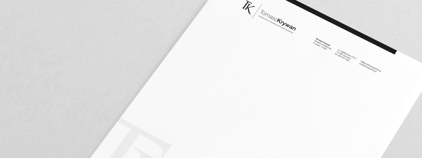 Papier firmowy dla Kancelaria doradztwa podatkowego Tomasz Krywan