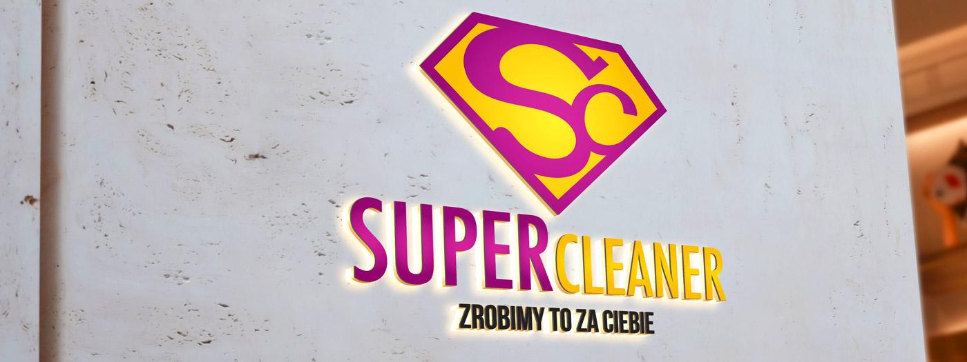 Projekt logo dla Firma sprzątająca SUPER Cleaner