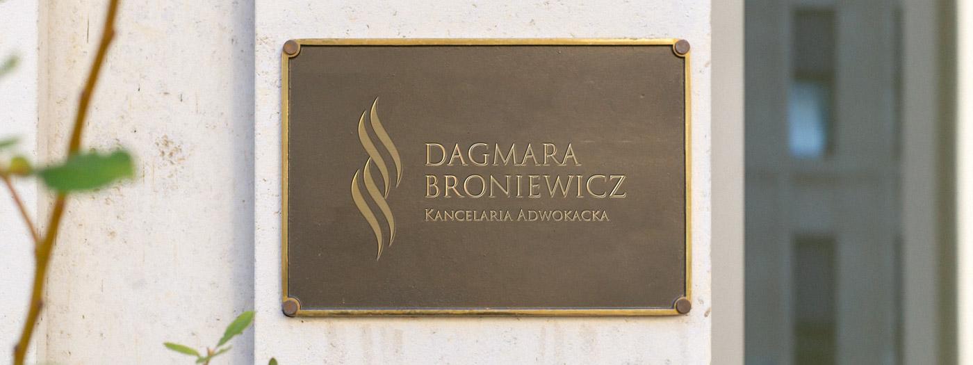 Projekt logo dla Kancelaria Adwokacka Dagmara Broniewicz