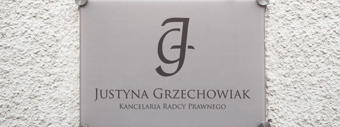Projekt logo dla Kancelaria radcy prawnego Justyna Grzechowiak