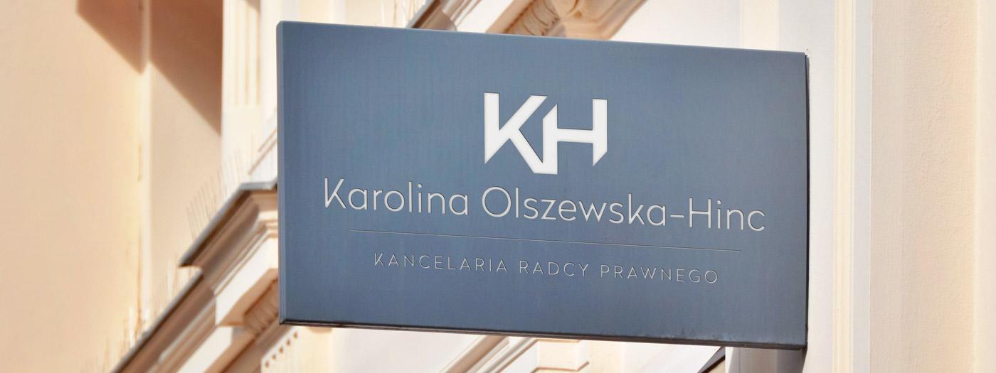 Projekt logo dla Kancelaria radcy prawnego Karolina Olszewska-Hinc
