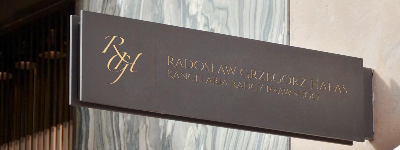 Projekt logo dla Kancelaria radcy prawnego Radosław Grzegorz Hałas