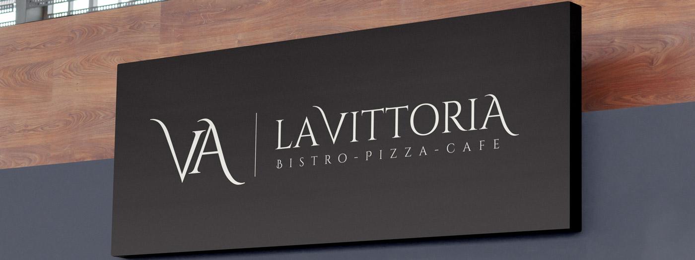 Projekt logo dla La Vittoria Ristorante