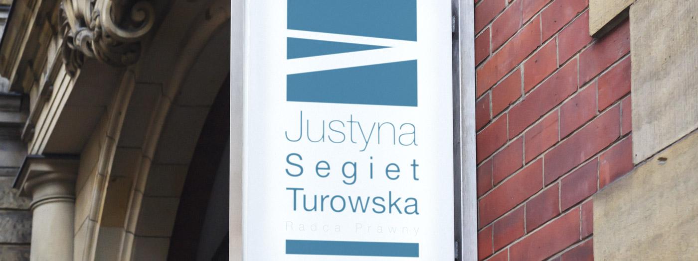 Projekt logo dla Radca prawny Justyna Segiet-Turowska