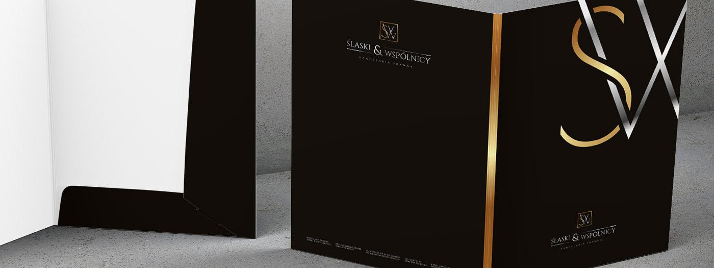 Projekt teczki dla Kancelaria prawna Ślaski & Wspólnicy