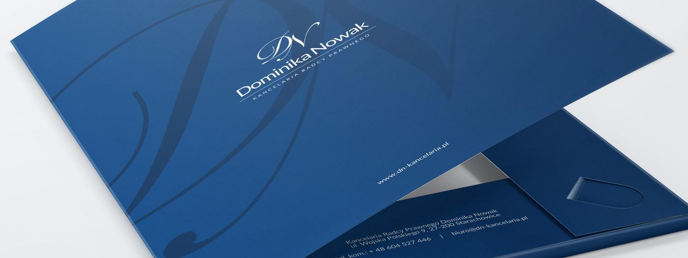 Projekt teczki dla Kancelaria radcy prawnego Dominika Nowak