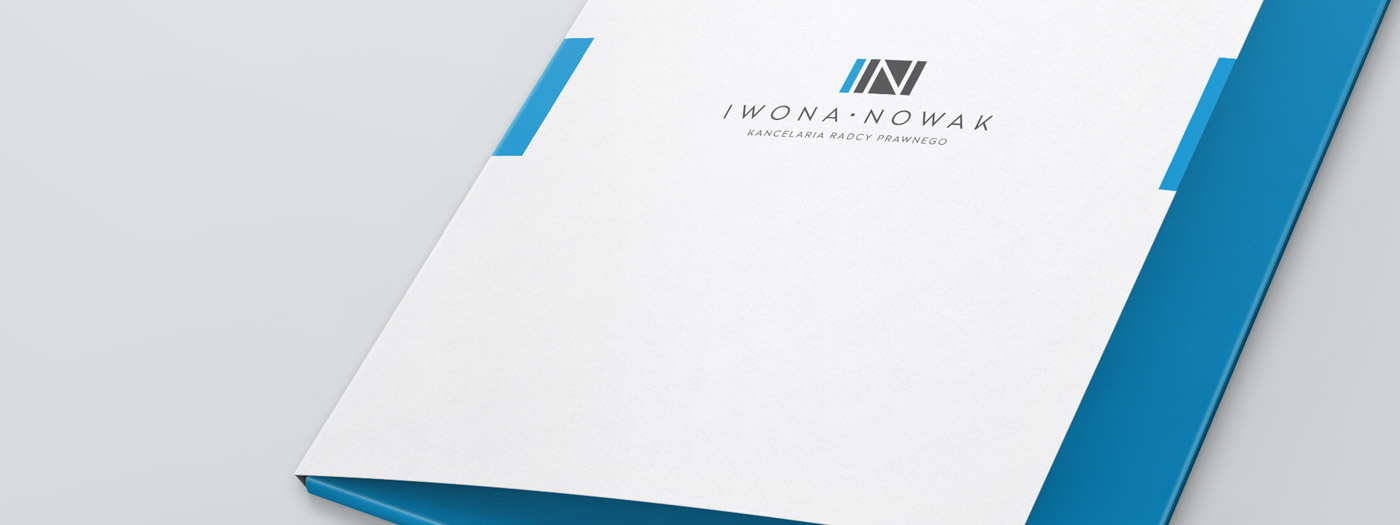 Projekt teczki dla Kancelaria radcy prawnego Iwona Nowak