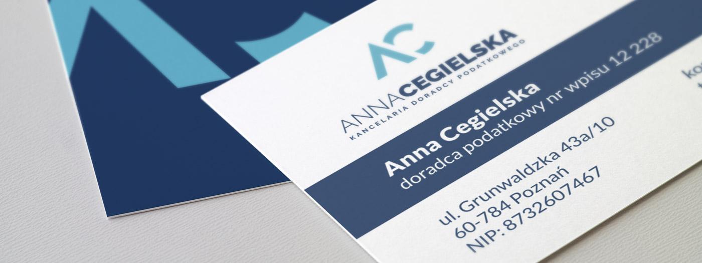 Wizytówka dla Kancelaria doradcy podatkowego Anna Cegielska