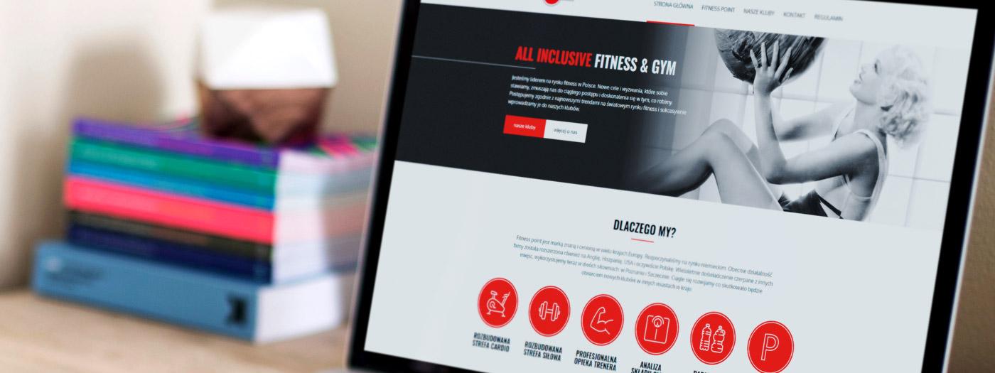 Strona internetowa dla Fitness Point Europe Sp. z o.o. Sp. k.