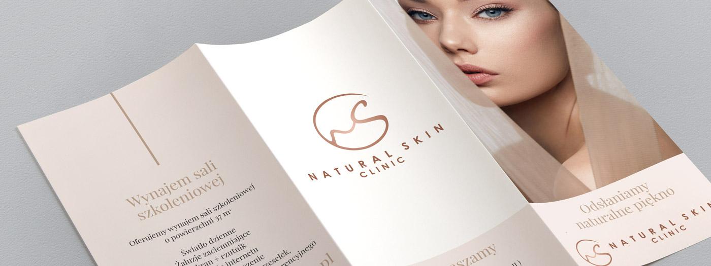 Ulotka składana 3xDL dla Natural Skin Clinic