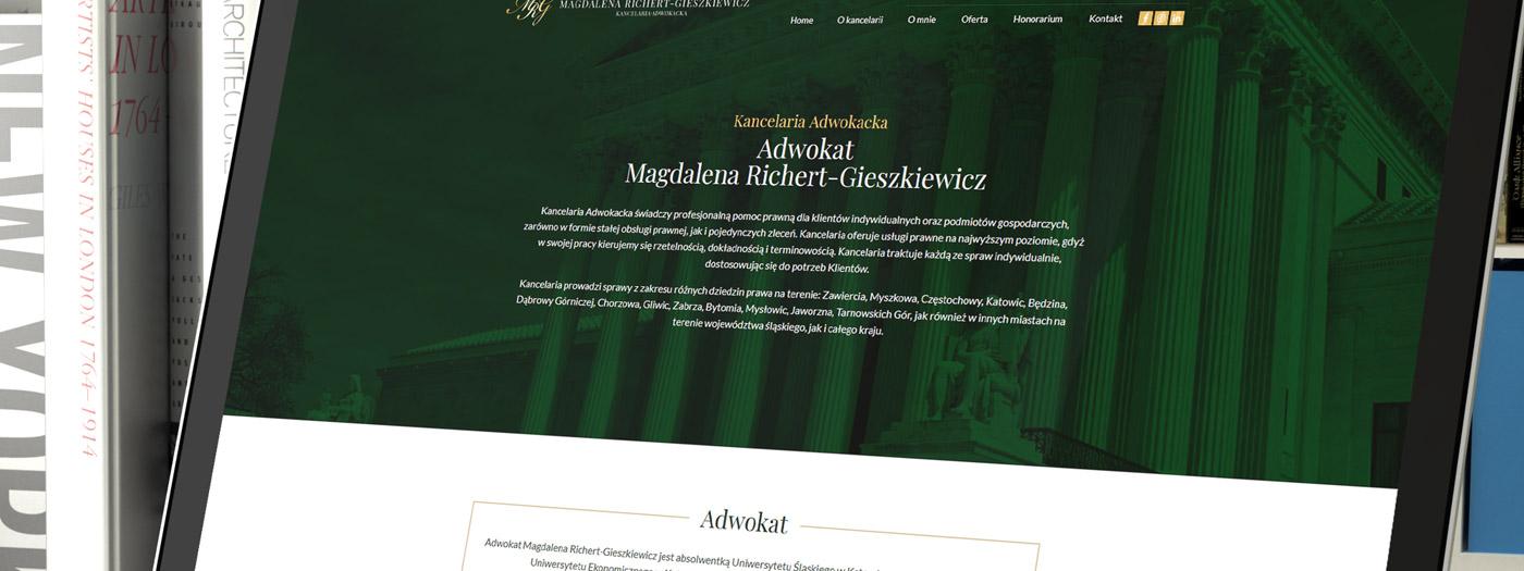 Strona internetowa dla Kancelaria Adwokacka Adwokat Magdalena Richert-Gieszkiewicz