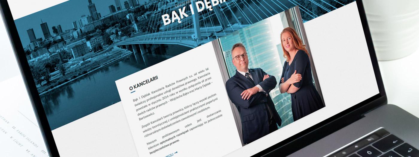 Strona internetowa dla Kancelaria radców prawnych Bąk i Dębiak