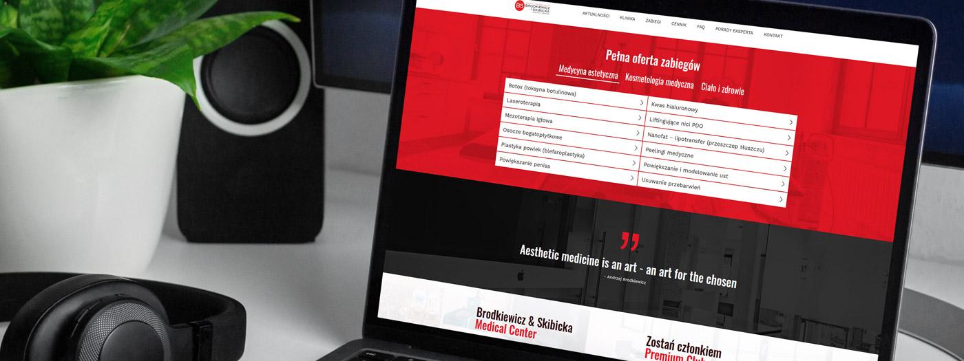 Strona internetowa dla Brodkiewicz&Skibicka Medical Center