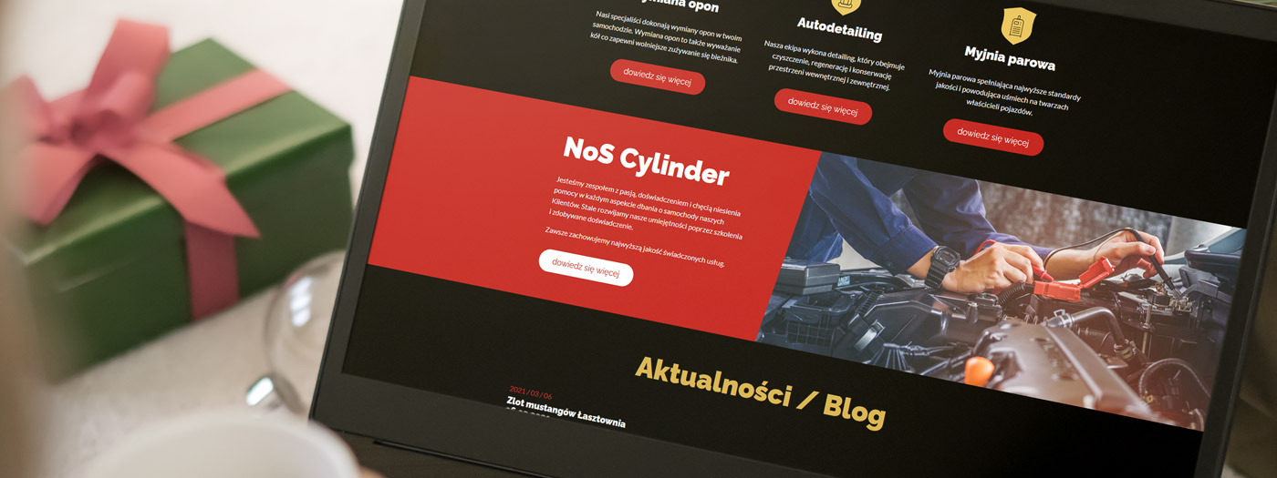 Strona internetowa dla NoS Cylinder